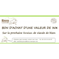 Bon Cadeau 30€ - Bisons d'Auvergne