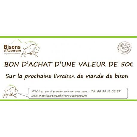 Bon Cadeau 50€ - Bisons d'Auvergne
