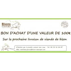 Bon Cadeau 100€ - Bisons d'Auvergne