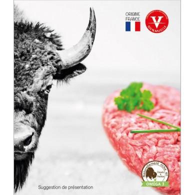 Steak haché 100% bison surgelé